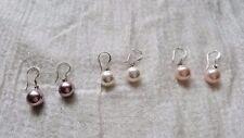 LOTTO ODL - 10 paia di acqua dolce Orecchini di Perle - 8 mm Round - 3 COLORI