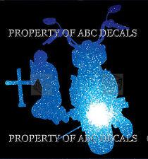 VRS PRAYING CHRISTIAN MOTORCYCLE at Cross Metal Car Decal Sticker