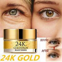 24K Gold Serum Anti Wrinkle Eye Cream Remove Dark Circles Care Skin G4D2
