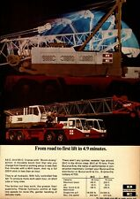 1970 Bucyrus Erie Print Advertisement: Models 65-C & 55-C Truck Cranes Boomarang