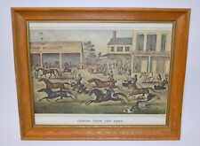 Currier & Ives 'Coming from the Trot' Framed Art Print, Americana 1869 Reprint