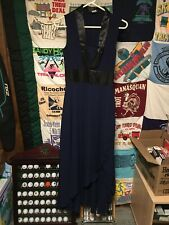Venus Womens Maxi Cocktail Formal Gown Dress Size 2 Navy Black Never Worn