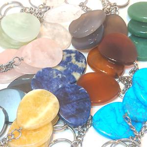 NEW 20 x Gemstone Keyrings Chakra Reiki Healing Quartz Jade etc WHOLESALE