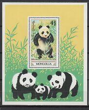 Mongolie 1990 un feuillet 1 timbre neuf animaux protégés le panda géant /T859