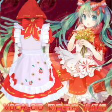 Anime Hatsune Miku Vocaloid Little Red Riding Hood Lolita Cosplay Costume Dress