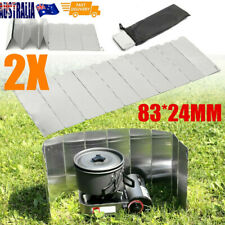 2x 10 plates Foldable Aluminum Camping Cooker BBQ Gas Stove Wind Shield Screen