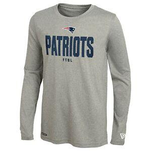 New Era NFL Football Men's New England Patriots Grids Dri-Tek Long Sleeve Tee