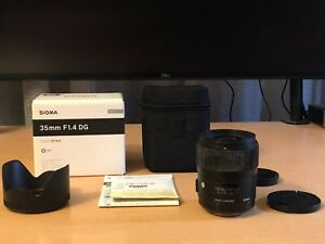 Sigma DG HSM 35mm f1.4 Art lens for Sony Minolta A-mount