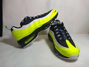 "Nike Air Max 95 PRM ""Reverse Volt"" Black Running Shoes 538416-701 Men's Size 9.5"