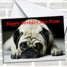 Tarjeta De Cumpleaños Personalizadas triste Pug Perro