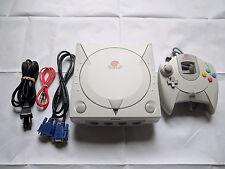 Sega Dreamcast VGA Mod HD 480p Console w/ VMU, Gamepad +New C2032 System Battery