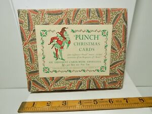 Mr Punch & Judy Children's Christmas card Empty Box- Great Graphic c1930s