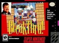 BreakThru! - Original Nintendo SNES Game
