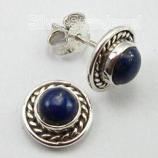 """LITTLE CUTE Earrings 3/8"""" ! 925 Sterling Silver Unseen LAPIS LAZULI Gemset"""