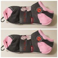 2 Women's MARILYN MONROE Grey White Low Cut Ankle Socks~Sock Size 9-11 Shoe 4-10