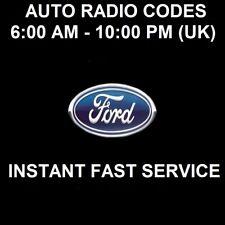*INSTANT* FORD V & M SERIAL CAR RADIO UNLOCK CODE