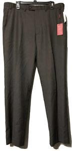 Alfani Mens Dark Taupe Wool Slim Fit Suit Separates Pants Size 38 x 32 New
