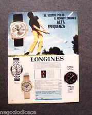 O668 - Advertising Pubblicità -1969- LONGINES ULTRA-CHRON , ALTA FREQUENZA