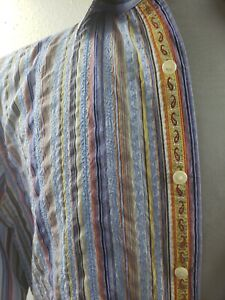 Robert Graham Exclusive Button Up Shirt Mens Long Sleeve XL Made in India