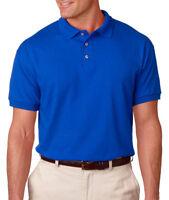 Jerzees Sport Shirt Polo Men's Short Sleeve 5.6 oz 50/50 Blended Jersey. J300