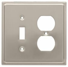 144418 Cambray Brushed Satin Nickel Switch GFCI Combo Cover Plate