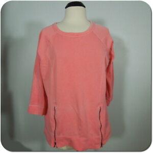 CALVIN KLEIN Performance Woman's Coral Sweatshirt, Soft Fleece Inside size 0X