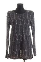 ISABEL MARANT Pour H&M Womens Grey Linen Top Tunic Size EUR 42 US 12 UK 16