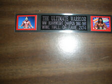 THE ULTIMATE WARRIOR (WWF) NAMEPLATE FOR SIGNED TRUNKS DISPLAY/PHOTO/PLAQUE