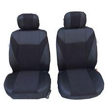 2x Vordere Schwarz Sitzbezüge Schonbezüge Polyester für Renault Seat Skoda VW