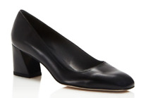$375 size 9 Stuart Weitzman Marymid Black Leather Heel Pump Womens Shoes NEW