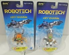 Robotech Super Deformed Key Chains VF-1D VF-1A Harmony Gold Toynami NEW RARE