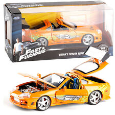 JADA 1:24 FAST AND FURIOUS BRIAN'S TOYOTA SUPRA ORANGE VEHICLE TOY COLLECTION