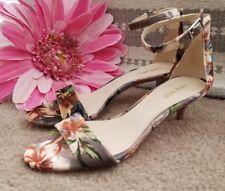 NINE WEST Hawaiian Luau Beach Kitten Pumps High Heels Women Shoes Sz 8.5 👣ks1