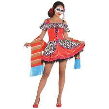 Day of the Dead Senora Sugar Skull Women's Halloween Costume Fancy Dress S