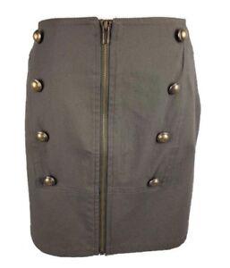 Garfunkle Australia Green Military Button Style Skirt Zipper Detail Size 16 BNWT