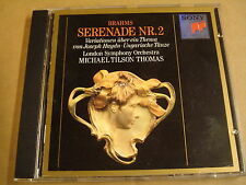 CD SONY CLASSICAL / BRAHMS - SERENADE NR.2 / MICHAEL TILSON THOMAS