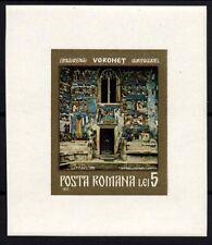 1158 ROMANIA 1971 Frescos Block MNH