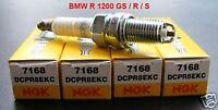 4 Stück - NGK Zündkerzen DCPR8EKC BMW R 1200 GS / R / S, 7168, spark plugs