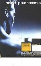 PUBLICITE ADVERTISING  1987  ADIDAS eau de toilette our hommes cosmétiques