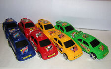 NEW:  Eight  Sporty Race Toy Cars, 4 Colors,  2 Designs