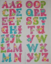 ALPHABET LETTERS Princess theme wall stickers 39 decals room decor ABC