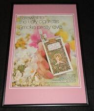 1971 Eve Filter Cigarettes Framed 12x18 ORIGINAL Advertisement B