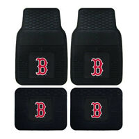 New MLB Gear Boston Red Sox Front Back Rubber Heavy duty All Weather Floor Mats
