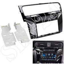VW GOLF 7 VII a partire dal 2013 doppio DIN Pannello Radio supporto radio mascherina 2-din Nero