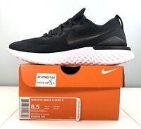 Nike Epic React Flyknit 2 Running Shoes Black White BQ8928-002 Men Size 8.5