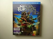 Teenage Mutant Ninja Turtles (Blu-ray/DVD, 2014; 3D) NEW w/lenticular slipcover