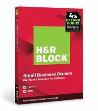 H&R BLOCK Tax Software Premium & Business 2019 WINDOWS ONLY