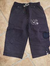 bermuda  bleu marine cordon taille psoches treilli  2 poches arriere et laterale