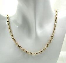 BELLA qualità 9 KT Oro Grande Belcher Link catena DA UNO A ERRE 20 in (ca. 50.80 cm)