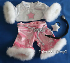 Build-A-Bear PINK DIVA ROCK STAR SPARKLES & FUR 4-PC Teddy Clothes Outfit